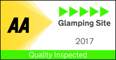 AA Five Pennant rated Glamping site 2017 (AA 5-Star Glamping Site)