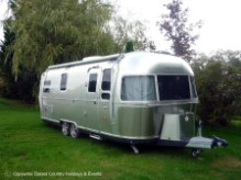 Airstream glamping holiday