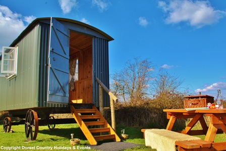Shepherd hut holiday glamping