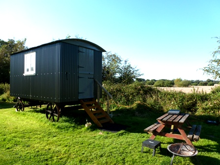 Shepherds hut glamping www.dche.co.uk