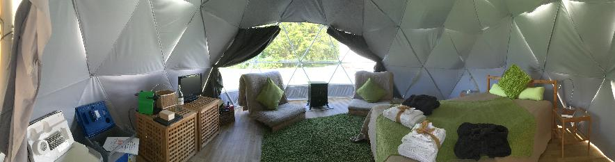 Dome glamping holiday