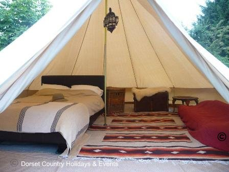 Bell Tent Gl ing on home yurt interiors
