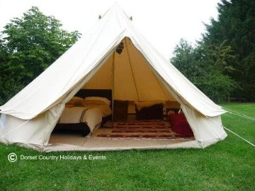 glamping bell tent hire holiday dche