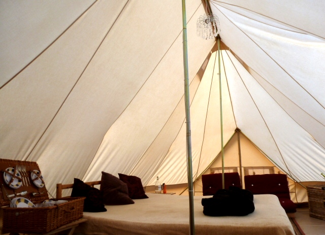 Family glamping tent dche.co.uk