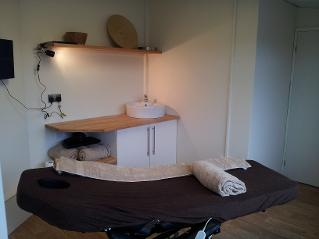Glamping site massage treatment