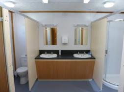 Glamping site Toilets and showers